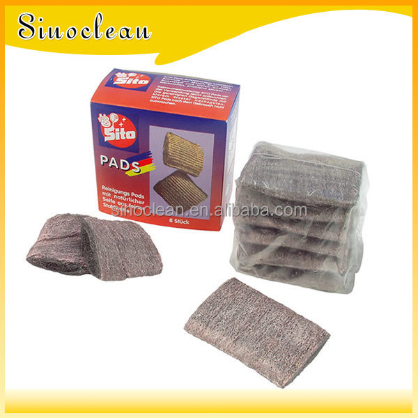 how to clean steel wool