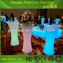 Modern led light up furniture/led light bar table