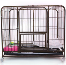 waterproof unique welded square tube dog kennels steel dog cage