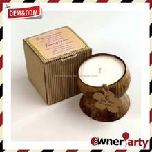 Customized Wholesale Eco Friendly Coconut Candles