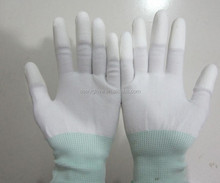 13G Nylon PU Coated Finger Gloves With CE Certificate En 388