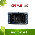 Pure Adnroid 4.1 TIGUAN GP Car DVD GPS Player 7inch Capacitive and Multi-touch Screen 3G Wifi Radio