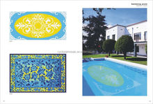 Mosaic for swimming pool, swimming pool deck tiles