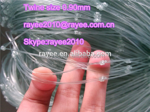 0.3MM NYLON Double Knot Type and PA Plastic Type double knotted nylon monofilamnet fishing nets TRANSPARENT,china red de pesca
