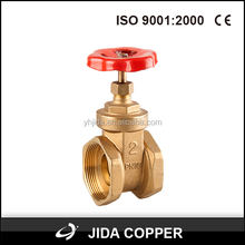 Rising STEM YUHUANG China brass gate valve CAS 3/4'' inch