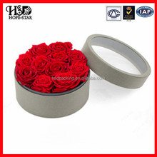 OEM luxury Transparent Clear plastic Round preserved roses packaging gift acrylic flowers display box