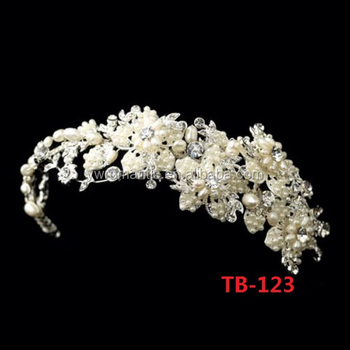 Factory wholesale new design handmade wedding bridal headband
