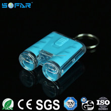Plastic keychain small torch battery operated color changing mini led button lights
