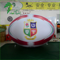 New Giant Helium Inflatable Plastic Rugby Ball / Advertising PVC Inflatable Floating Sky Rugby Model