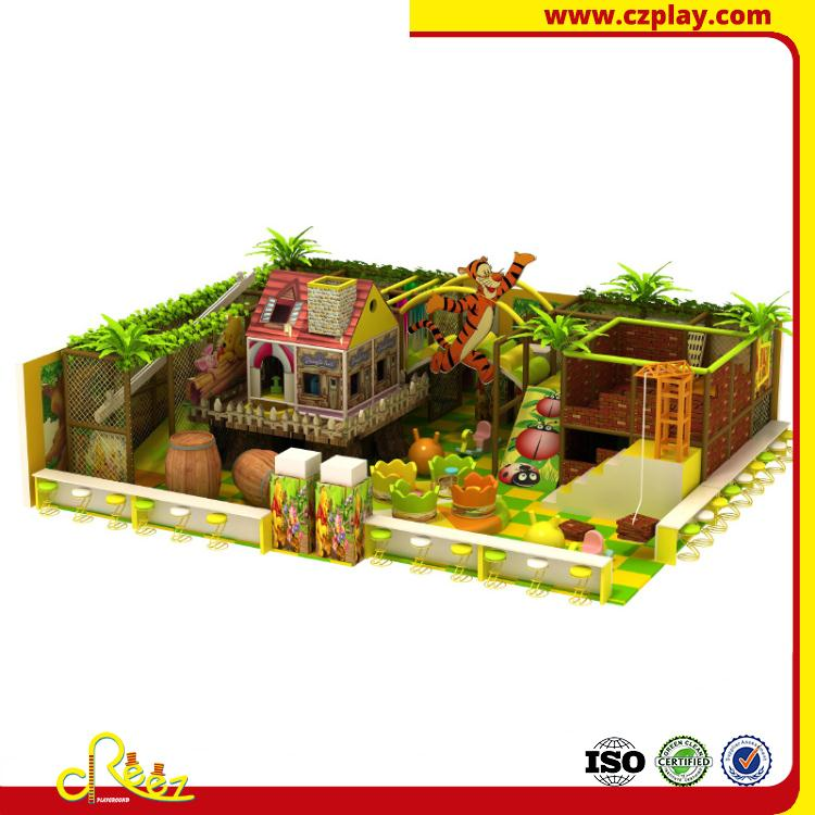 natural indoor games castle for amusement center