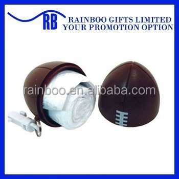 Hot selling cheap plastic rugby ball shape disposable transparent rain poncho for promotional gift