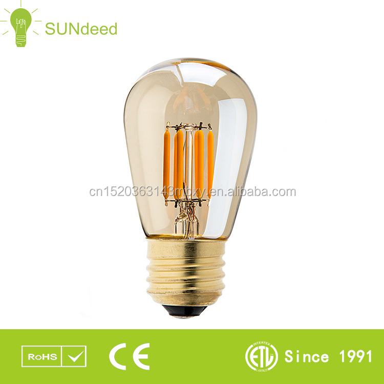 High Lumen LED Bulbs, Edison Style G80 LED Filament Bulb, 360 Degree Dimmable Filament LED Bulb UL Listed