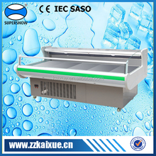 Fan cooling fish display refrigerator with digital controller