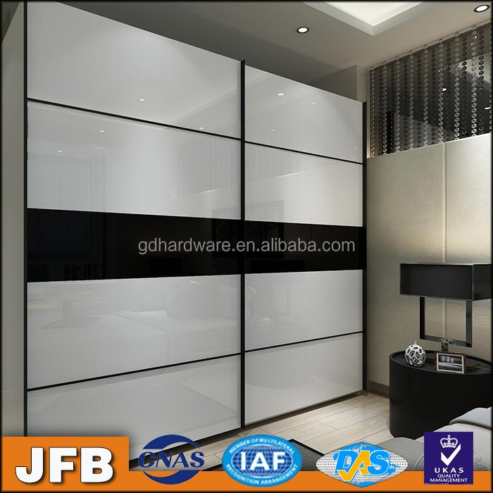 european style modern aluminum custom painted wardrobe sliding door