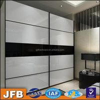 european style modern aluminum custom painted wardrobe sliding door