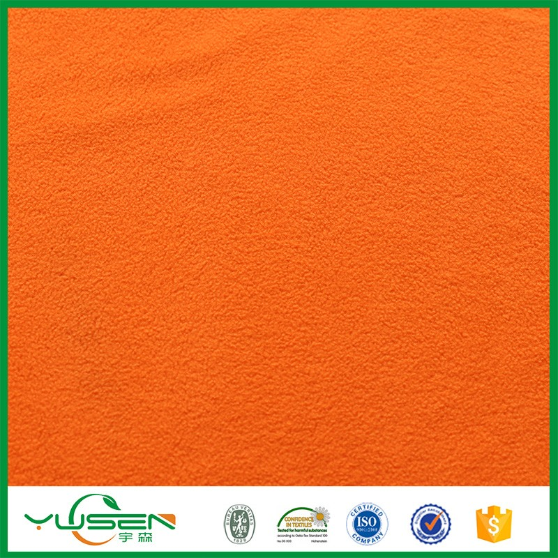 100% polyester knit fabric polar fleece two sides brushed one side antipiling winter fabric