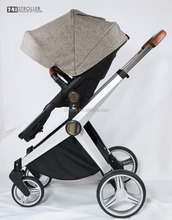 luxure aluminum frame baby stroller with good quality fabric cover/aluminum tube nylon fabric cover baby pushchair OEM brand