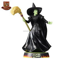 The wizard of oz wicked witch resin wholesale witch statue