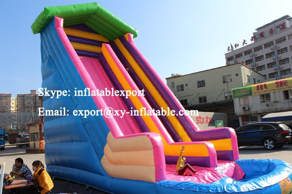 Adultos tama o tobog n inflable con piscina piscina - Piscina infantil con tobogan ...