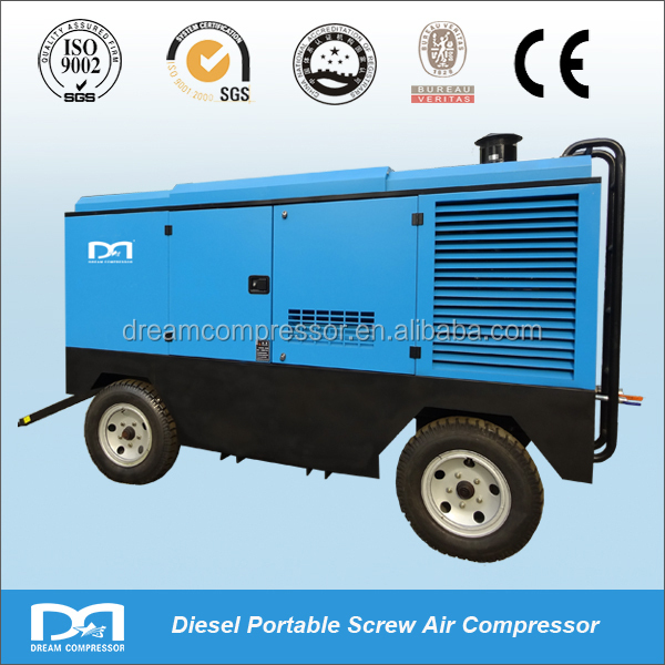 high pressure Mobile diesel driven air compressor factory directly sale