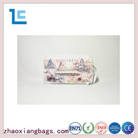 Zhaoxiang 2016 latest trend rectangle ladies cosmetic bag with handle
