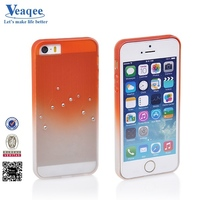 Veaqee good handy cheap cell phone frosted tpu case with diamond for iphone 5s