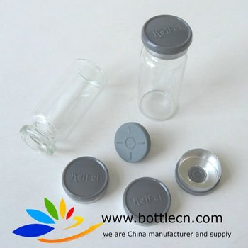 washed clear 22*50mm standard clear empty 10ml glass vials in headspace flat bottom for injection antibiotic medications
