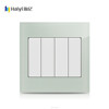 4 gang one way AQUA big button wall switch with indicator light
