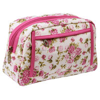 Royal Garden Fashion Make-Up Cosmetics Toilet Toiletries Bag - Pink, Roses