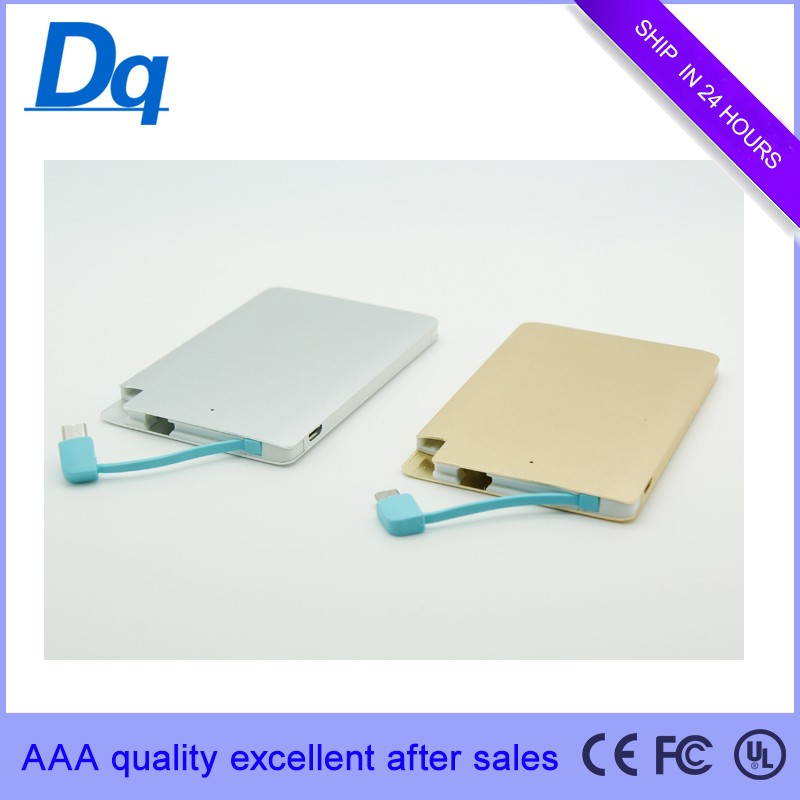 USB Portable Standby Power Supply High quality new innovative charger 2500mAh ultra-thin metal card charging Po