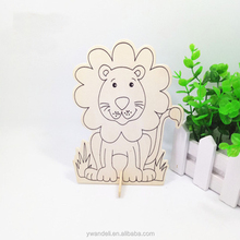 Wood Lion Educational Painting Toys DIY Drawing Decoration For Kits