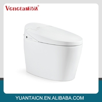 Mass supply competitive price automatic ceramic smart low toilets