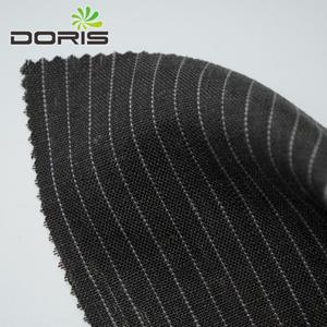 100% true linen yarn dyed fabric for striped coats