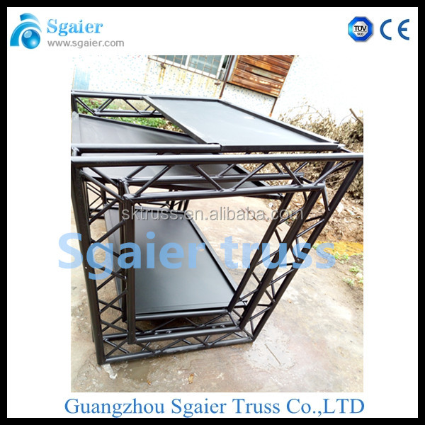 new type aluminum dj table, dj booth table on sale, truss DJ table