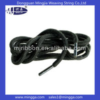 custom round nylon shoelace with metal tips