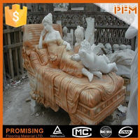 Full hand carved natural stone car statue