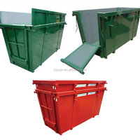 Outdoor metal garbage bin for waste recycling