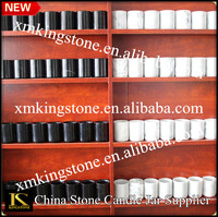 home decoration and manufacture wholesale white and black marble candle jars