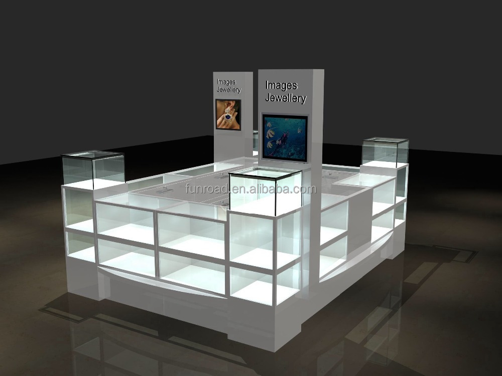 latest design wheeled LED mobile phone display cabinet/ mobile phone counter/ mobile showcase for displaying smart phones