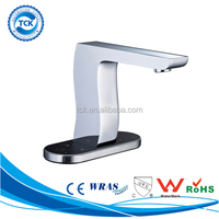 Flow control led faucet light temperature sensor