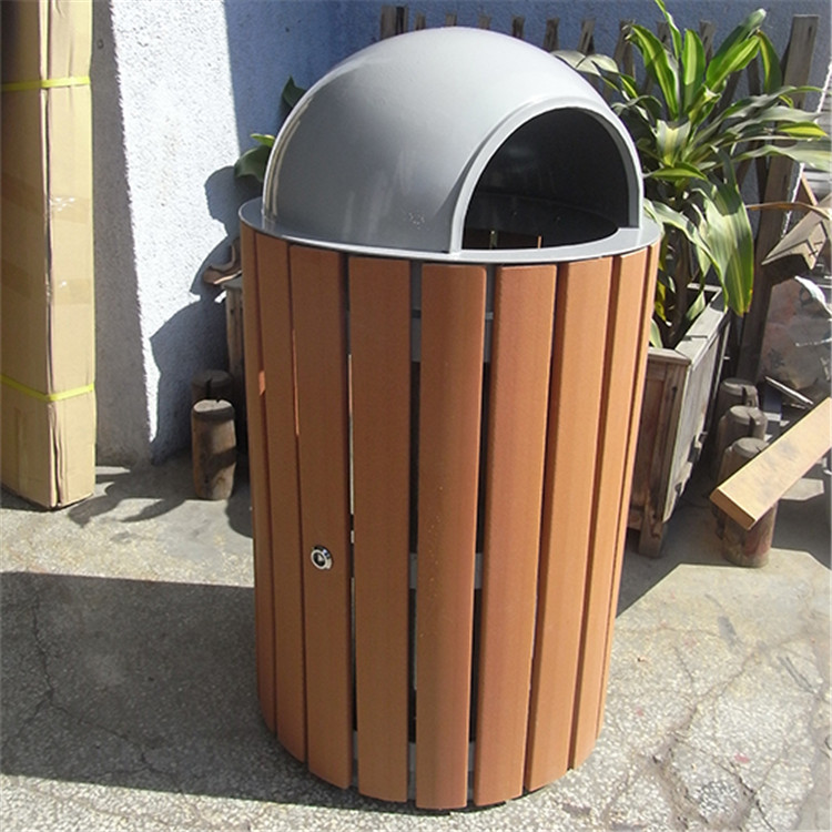 Vintage customized plastic with metal material dustbin hotel room dustbin kitchen cabinet dustbin