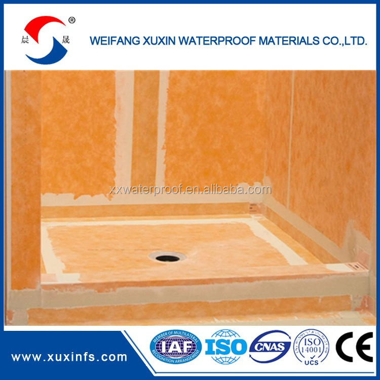 wall seal waterproofing membrane for shower wall