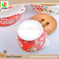 Hot selling various size colorful ceramic bowl set for wholesales