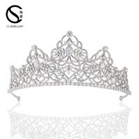 TR15204 Wholsale india hair accessories wedding tiaras tall pageant crowns for sale