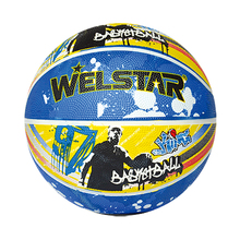 Welstar brand custom printed colorful rubber basketball