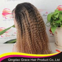 Grace hair Hot sale Indian remy hair full lace wig T color with baby hair