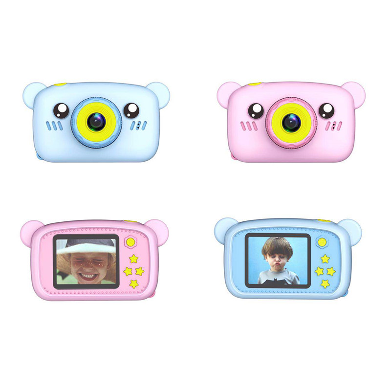 2019 new 2 inch IPS display 1080P children digital camera for kids smart toy video camera with <strong>case</strong>