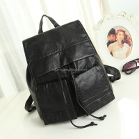 Fashion Drawstring pu Leather Bag Girls Stock Backpack