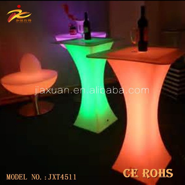 Color changing led bar table/ light up bar table/modern glass bar table for bar,party ects
