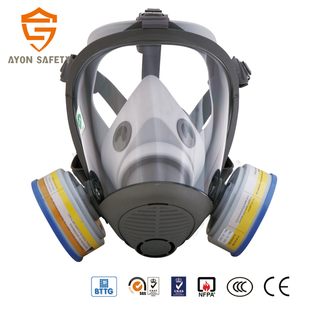 Conical Fire Fighting Good Air Tightness Face Shield